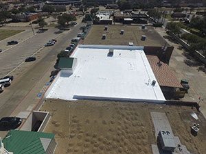 Commercial Flat Roof Coating in OKC