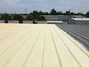Flat Roof Coating Applied To Commercial Roof in Oklahoma City