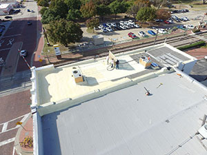 Spolyurethane spray foam roofing in Oklahoma City